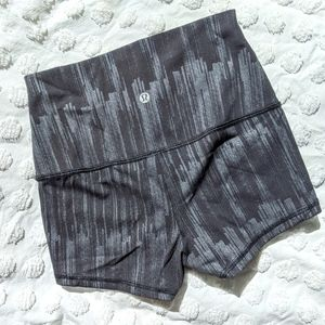 Lululemon High Waisted Boogie Shorts 4 Metallic